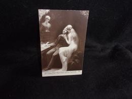 Arts. Salon De Paris .Tableau .Le Poète Et La Muse Par Gabriel De Cool. Carte Photo.Voir 2 Scans . - Peintures & Tableaux