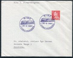 1967 Denmark Ribe FIRAC KONGRES Train Railway Cover - Danimarca