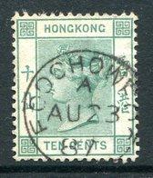 Hong Kong - Used In China - Foochow - 1882-96 QV (Wkmk. Crown CA) - 10c Green Used (SG Z341) - Hong Kong (...-1997)