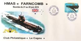 NOUVELLE CALEDONIE (New Caledonia)- Enveloppe événementielle Du Club Le Cagou - 2019 - Sous-marin Farncomb - Covers & Documents