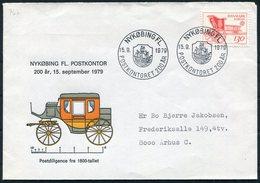 1979 Denmark Nykobing FL Postkontor 200th Anniversary Mail Coach, Ship Cover. Europa Slania - Covers & Documents