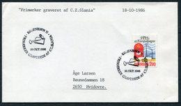 1986 Denmark Slania Cover - Covers & Documents