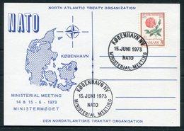 1973 Denmark Copenhagen NATO Ministerial Meeting Postcard. Slania - Covers & Documents