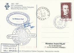 TAAF - Dumont D'Urville-T.Adélie: Carte Illustrée PE Victor Avec Timbre N°454 Saint Aloüarn - 23/02/2007 - Franse Zuidelijke En Antarctische Gebieden (TAAF)