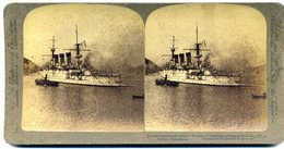 Photos Stéréoscopiques - Croiseur  Russe Persifert  à Port  Arthur - Conflit  Russo  Japonais  En 1904 - D 87 - Photos Stéréoscopiques