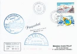 """TAAF - Dumont D'Urville-T.Adélie: Lettre """"L'Astrobale"""" Avec France N°3019 Iles Sanguinaires Et 3698 Jetski - 23/02/2007 - Terres Australes Et Antarctiques Françaises (TAAF)"""