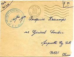 SIDI-AICH (Constantine) - Lettre En Franchise Militaire -1956 - Algérie (1924-1962)
