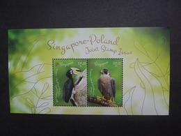 Singapur Block    Vögel   Gemeinschaftsausgabe  Singapur-Polen 2019    ** - Vögel