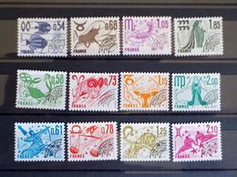 3 Series Préos N°146 à 157 Neufs** De 1977/78 - Vorausentwertungen