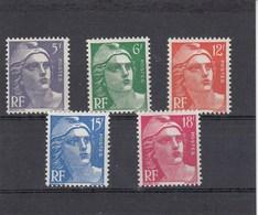France - 1951 - N° YT 883/87** - Type Marianne De Gandon - 1945-54 Marianna Di Gandon