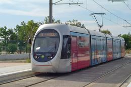 Athènes (Grèce) 06/2005 Tramway D'Athènes Ligne 5 - Station Pirée - Rame AnsaldoBreda - Type Sirio  N°TA10012 - Grèce