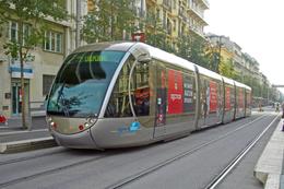 Nice (06) 6/10/2009 - Tramway Ligne 1 - Station Libération Rame Citadis Alstom N°18 Décorée Aux Couleurs De L'OGC Nice - Tranvía