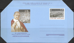 VATICAN, 2019,MINT POSTAL STATIONERY, AEROGRAMME, MOON LANDING, SPACE, POPES - Space