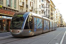 Nice (06) 14/01/2009 Tramway Ligne 1 - Station Acropolis Rame Citadis Alstom N°5 Décorée Aux Couleurs De Nice 2018 - Tranvía
