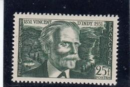 France - 1951 - N° YT 890** - Vincent D'Indy - France