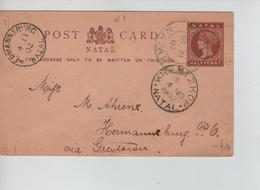 PR7640/ Natal Entire PC 1/2 Penny Written From Emtombeni 1902 > Hermanuburg Via Krantzkop Arrival Cancellation - Natal (1857-1909)
