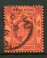 Hong Kong - Used In China - Shanghai - 1904-06 KEVII (Wmk. Mult. Crown CA) - 4c Purple On Red Used (SG Z836) - Hong Kong (...-1997)