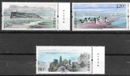CHINA, 2019, MNH, POYANG LAKE, BIRDS, MOUNTAINS, 3v - Oiseaux