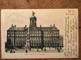 "CPA, AMSTERDAM,"" Paleis Von H.M. De Koningin, éd Stangel & Co, écrite En 1900,timbres - Amsterdam"