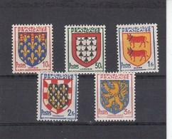 France - 1951 - N° YT 899/903** - Armoiries De Provinces - Francia