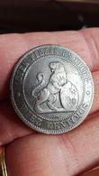 ESPAGNE 10 Centimos Monnayage Provisoire ¿ESPAÑA¿ Assise / Lion Au Bouclier 1870 En L Etat Sur Les Photos - Other