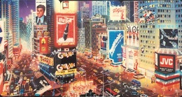 TeleCard World (New York 9/94) Times Square Puzzle Set Of 3 (A.Chen) - Puzzles