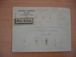 Rateau La Courneuve Ema Empreinte Machine Affranchir Sur Lettre - Storia Postale