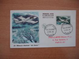 Avion Ms 760 Paris Timbre 300 F Fdc Enveloppe 1 Er Jour - FDC