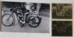 Photographie Belle Moto Marque Automoto 175 Plaque 2788CY5 Avec 2 Enfants + 2 Négatifs - Other