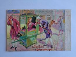 Liège - Le Vieux Liège à L'Exposition De 1905 - Chaise à Porteur - Lüttich