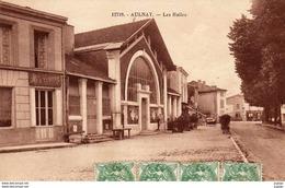 AULNAY  Les Halles.  Carte écrite En 1925   2 Scans   TBE - Aulnay