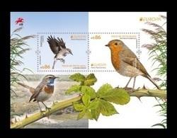 Portugal 2019 Mih. 4511/12 (Bl.444) Europa. National Birds. Fauna. European Robin And Bluethroat MNH ** - Neufs