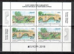 Türkisch-Zypern / Turkish Republic Of Northern Cyprus / Chypre Turc 2018 Block/souvenir Sheet EUROPA ** - 2018
