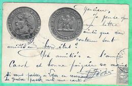 REPRESENTATION D'UNE PIECE DE MONNAIE SATIRIQUE - NAPOLEON III - SOUVENIR DE 1870 - Sátiras