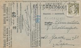584/30 - Griffe ELVERDINGHE S/ Carte Caisse D' Epargne TP Cérès BRUGGE 1934 - Verso Cachet Gemeentebestuur - Poststempel