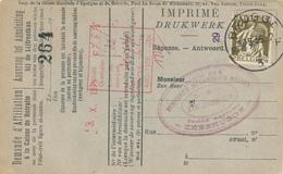 585/30 - Carte Caisse D' Epargne TP Cérès BRUGGE 1935 - Verso Cachet ST ANDRIES Gemeentebestuur - 1932 Cérès Et Mercure