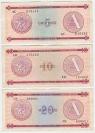 Cuba SET P FX3 FX4 FX5 - 5 10 20 Pesos 1985 Series A - VF - Cuba