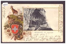 WILDKIRCHLI - PRÄGE KARTE - CARTE EN RELIEF - TB - AI Appenzell Rhodes-Intérieures