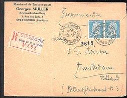 1927 Georges Muller Briefmarkenhandlung 3 Rue Des Juifs Strasbourg-la-Cathedral > Amsterdam Holland (915) - 1922-26 Pasteur