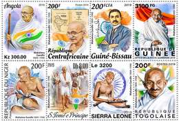 Central African Countries - 150th Birth Anniversary Special Issue On Mahatma Gandhi - Stamp Set Of 8 Stamps - Sellos