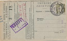 587/30 - Carte Caisse D' Epargne TP Cérès BLANKENBERGHE 1932 - Verso Cachet BLANKENBERGHE Gemeentebestuur - 1932 Cérès Et Mercure