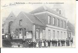 SCHRIEK - SCHRIECK - HET GEMEENTEHUIS / La Maison Communale - Ed: D. HENDRIX - Circulé: 1910 - 2 Scans - Heist-op-den-Berg