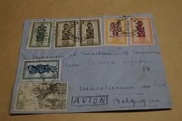 RARE,superbe Envoi Du Congo Belge 1949 Avec 7 Timbres Pour Collection - Congo Belge