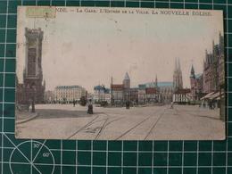Oostende Ostende La Gare. Entrèe De La Ville. La NOUVELLE EGLISE - Oostende