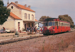 Ile Rousse (2B) Août 1978 - Autorail Renault ABH1 En Gare - Bahnhöfe Mit Zügen