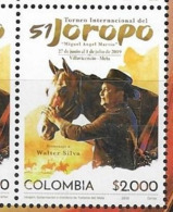 COLOMBIA, 2019, MNH,  HORSES, INTERNATIONAL TOURNAMENT OF JOROPO, 1v - Horses
