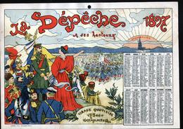 Claendrier 1897, La Depeche, Strasbourg, Theme Militaria - Calendriers