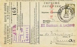 589/30 - Carte Caisse D' Epargne TP Cérès CHIMAY 1934 - Verso Cachet CHIMAY Administration Communale - 1932 Cérès Et Mercure