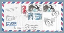 19 - TAAF PO130 - PO132x2 - PO134 Du 1.1.1988 TERRE ADELIE Recommandé - 1ere Date Pour Ces Timbres - XXXVIII EXPEDITION. - Lettres & Documents