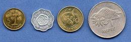 Seychelles  /  Lot De 4 Monnaies - Seychellen
